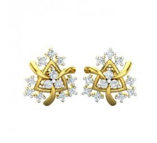 Natural Diamond Earrings 0.54 CT / 3.40 gm Gold