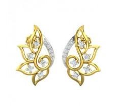 Natural Diamond Earrings 0.31 CT / 3.60 gm Gold