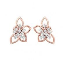 Natural Diamond Earrings 0.30 CT / 3.15 gm Gold