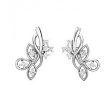Natural Diamond Earrings 0.35 CT / 3.60 gm Gold