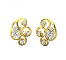 Natural Diamond Earrings 0.32 CT / 3.10 gm Gold