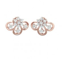 Natural Diamond Earrings 0.46 CT / 3.00 gm Gold