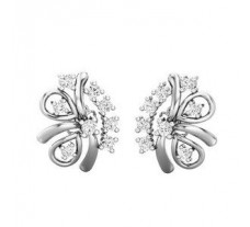 Natural Diamond Earrings 0.46 CT / 3.40 gm Gold