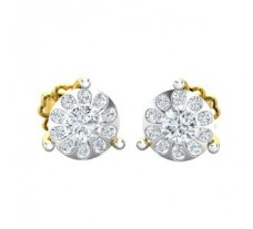 Natural Diamond Earrings 0.48 CT / 2.30 gm Gold
