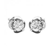 Natural Diamond Earrings 0.30 CT / 1.50 gm Gold