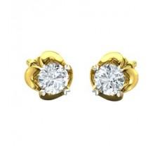 Natural Diamond Earrings 0.38 CT / 1.60 gm Gold