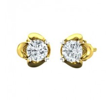 Natural Diamond Earrings 0.50 CT / 1.75 gm Gold