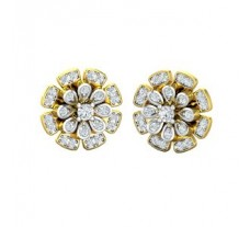 Natural Diamond Earrings 0.70 CT / 5.70 gm Gold