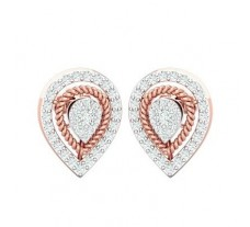Natural Diamond Earrings 0.55 CT / 3.35 gm Gold