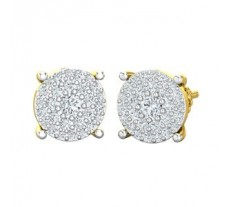 Natural Diamond Earrings 0.93 CT / 4.80 gm Gold