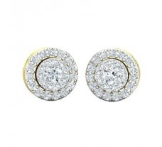 Natural Diamond Earrings 0.60 CT / 3.40 gm Gold