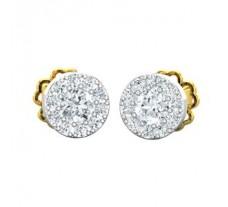 Natural Diamond Earrings 0.30 CT / 1.65 gm Gold