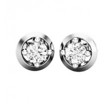 Natural Diamond Earrings 0.38 CT / 2.30 gm Gold