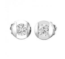 Natural Diamond Earrings 0.38 CT / 1.90 gm Gold