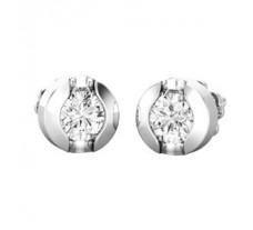 Natural Diamond Earrings 0.38 CT / 1.85 gm Gold