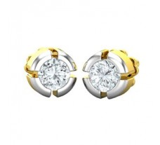 Natural Diamond Earrings 0.38 CT / 2.50 gm Gold