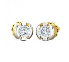 Natural Diamond Earrings 0.38 CT / 2.40 gm Gold