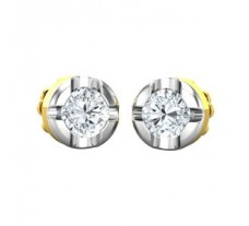 Natural Diamond Earrings 0.38 CT / 2.10 gm Gold