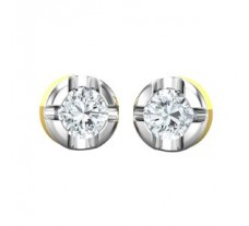 PreSet Natural Solitaire Diamond Earrings 0.60 CT / 2.90 gm Gold