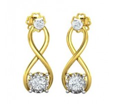 Natural Diamond Earrings 0.37 CT / 2.55 gm Gold