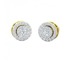 Natural Diamond Earrings 0.55 CT / 3.40 gm Gold