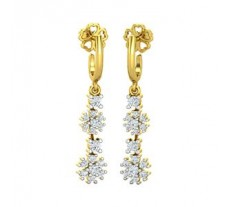 Natural Diamond Earrings 0.50 CT / 3.30 gm Gold
