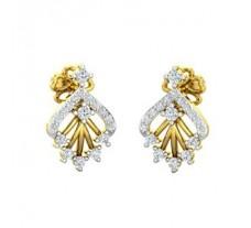 Natural Diamond Earrings 0.31 CT / 2.30 gm Gold