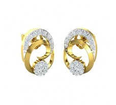 Natural Diamond Earrings 0.32 CT / 2.70 gm Gold