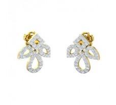 Natural Diamond Earrings 0.60 CT / 2.95 gm Gold
