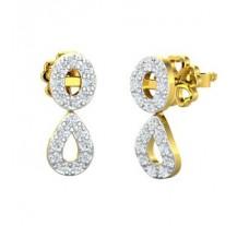 Natural Diamond Earrings 0.34 CT / 2.00 gm Gold