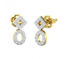 Natural Diamond Earrings 0.28 CT / 2.00 gm Gold