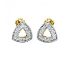 Natural Diamond Earrings 0.36 CT / 2.80 gm Gold