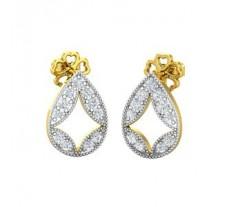 Natural Diamond Earrings 0.26 CT / 2.40 gm Gold