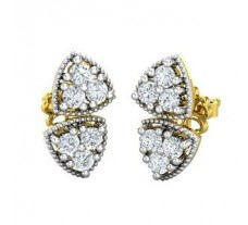 Natural Diamond Earrings 0.48 CT / 2.85 gm Gold