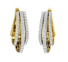 Natural Diamond Earrings 1.01 CT / 8.50 gm Gold