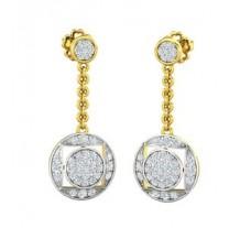 Natural Diamond Earrings 0.59 CT / 3.21 gm Gold
