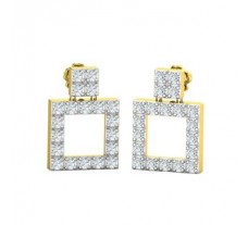 Natural Diamond Earrings 0.48 CT / 2.70 gm Gold