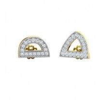 Natural Diamond Earrings 0.40 CT / 2.95 gm Gold