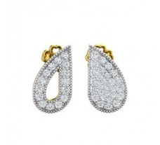 Natural Diamond Earrings 0.43 CT / 2.40 gm Gold