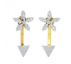 Natural Diamond Earrings 0.85 CT / 3.40 gm Gold