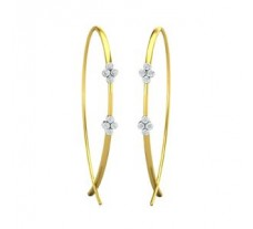 Natural Diamond Earrings 0.32 CT / 4.40  gm Gold