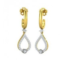Natural Diamond Earrings 0.45 CT / 5.20 gm Gold