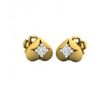 Natural Diamond Earrings 0.10 CT / 2.30 gm Gold