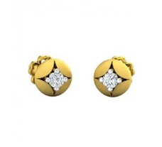 Natural Diamond Earrings 0.12 CT / 1.30 gm Gold