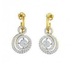 Natural Diamond Earrings 1.28 CT / 3.40  gm Gold