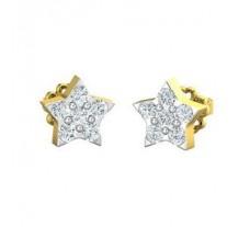 Natural Diamond Earrings 0.36 CT / 2.00 gm Gold