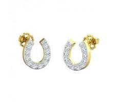 Natural Diamond Earrings 0.24 CT / 2.00 gm Gold