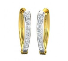 Natural Diamond Earrings 0.35 CT / 2.60 gm Gold