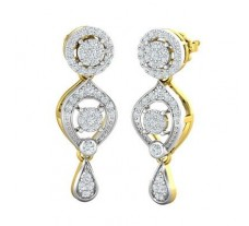 Natural Diamond Earrings 0.87 CT / 6.50 gm Gold