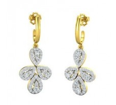 Diamond Earrings 1.42 CT / 7.90 gm Gold